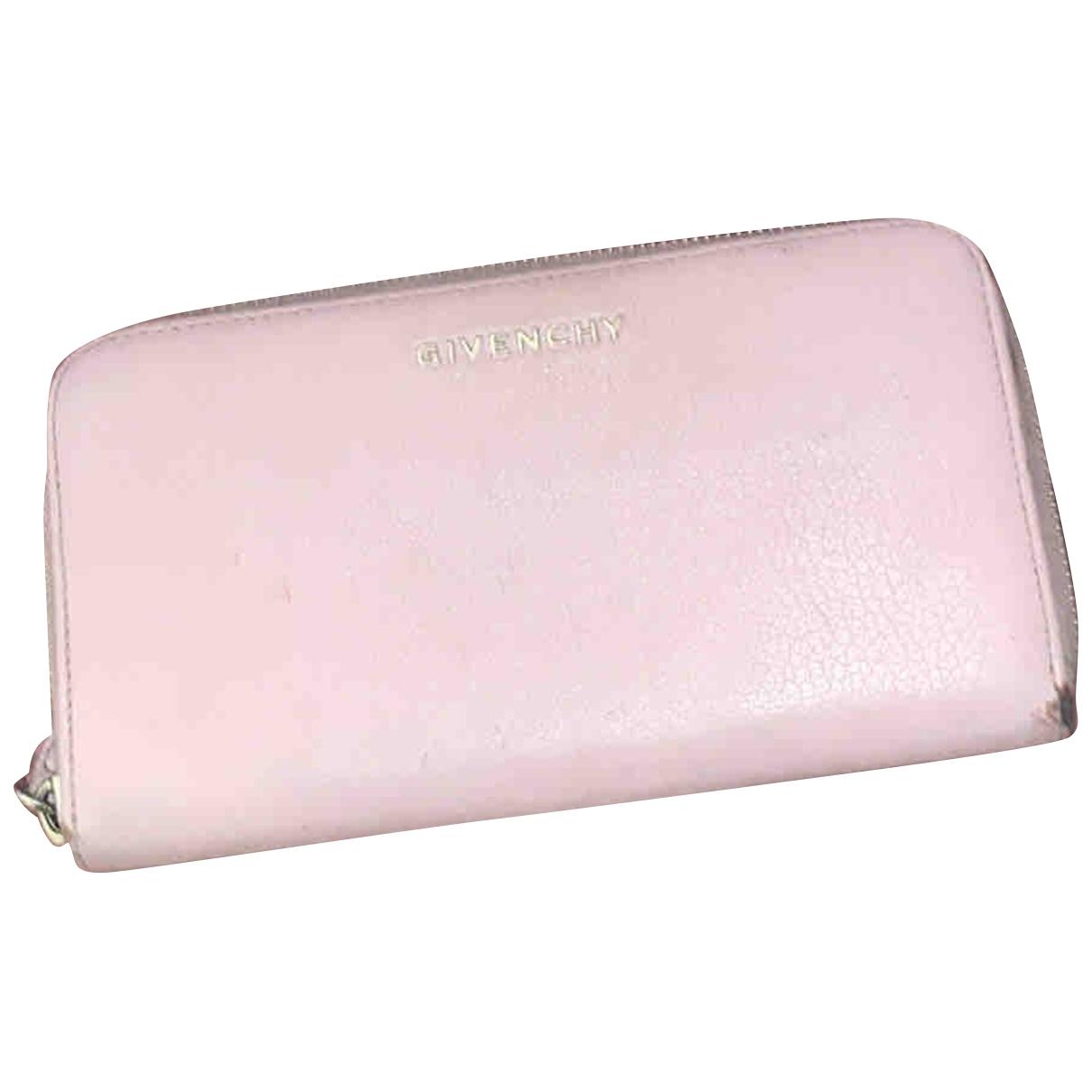 Givenchy - Portefeuille   pour femme en cuir - rose