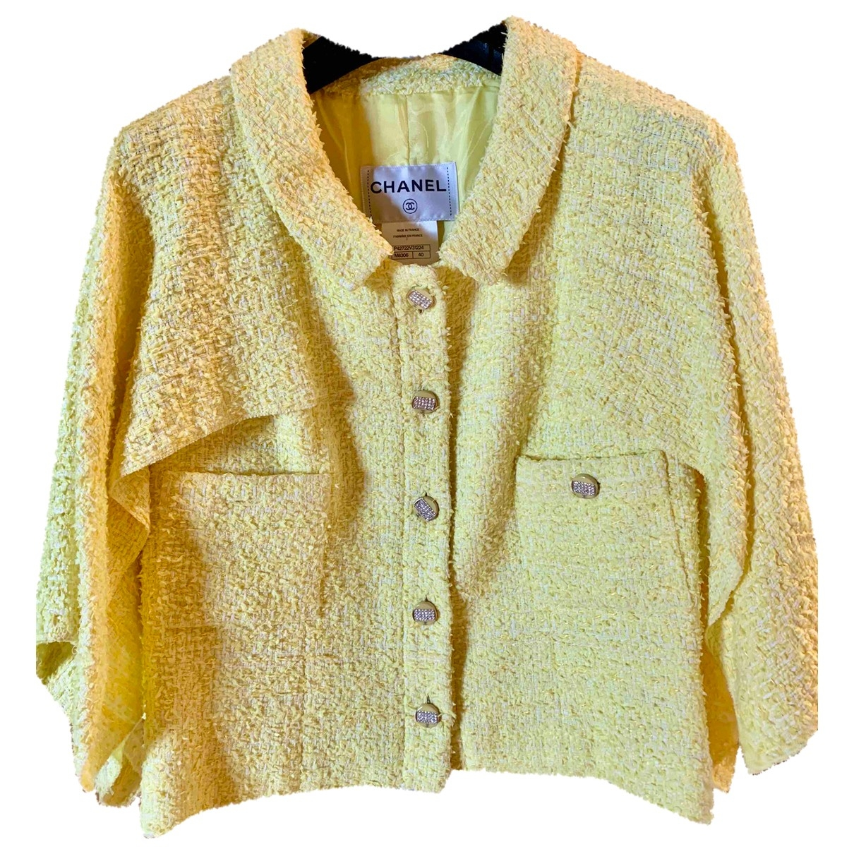 Chanel \N Jacke in  Gelb Baumwolle