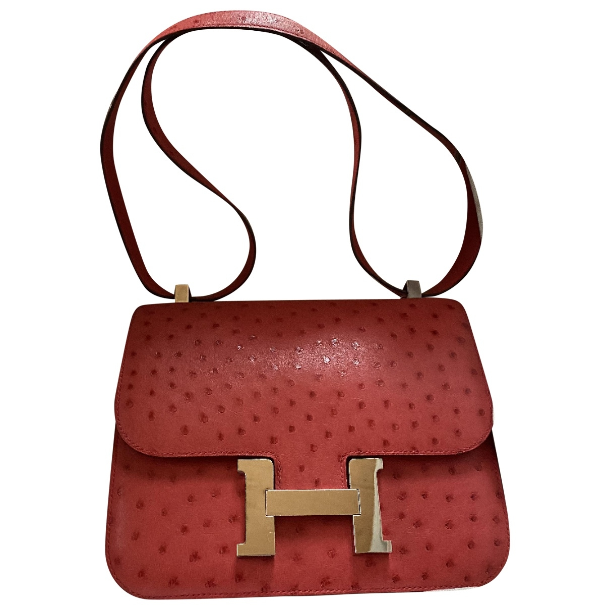 Hermès Constance Red Ostrich handbag for Women \N