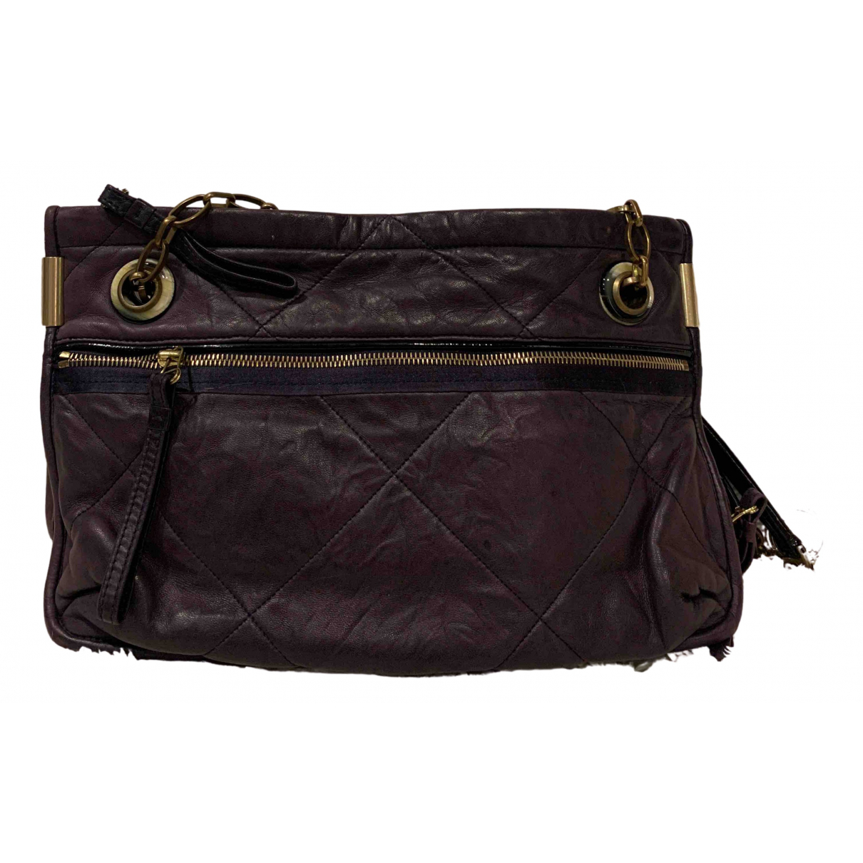 Lanvin Amalia Purple Leather handbag for Women \N