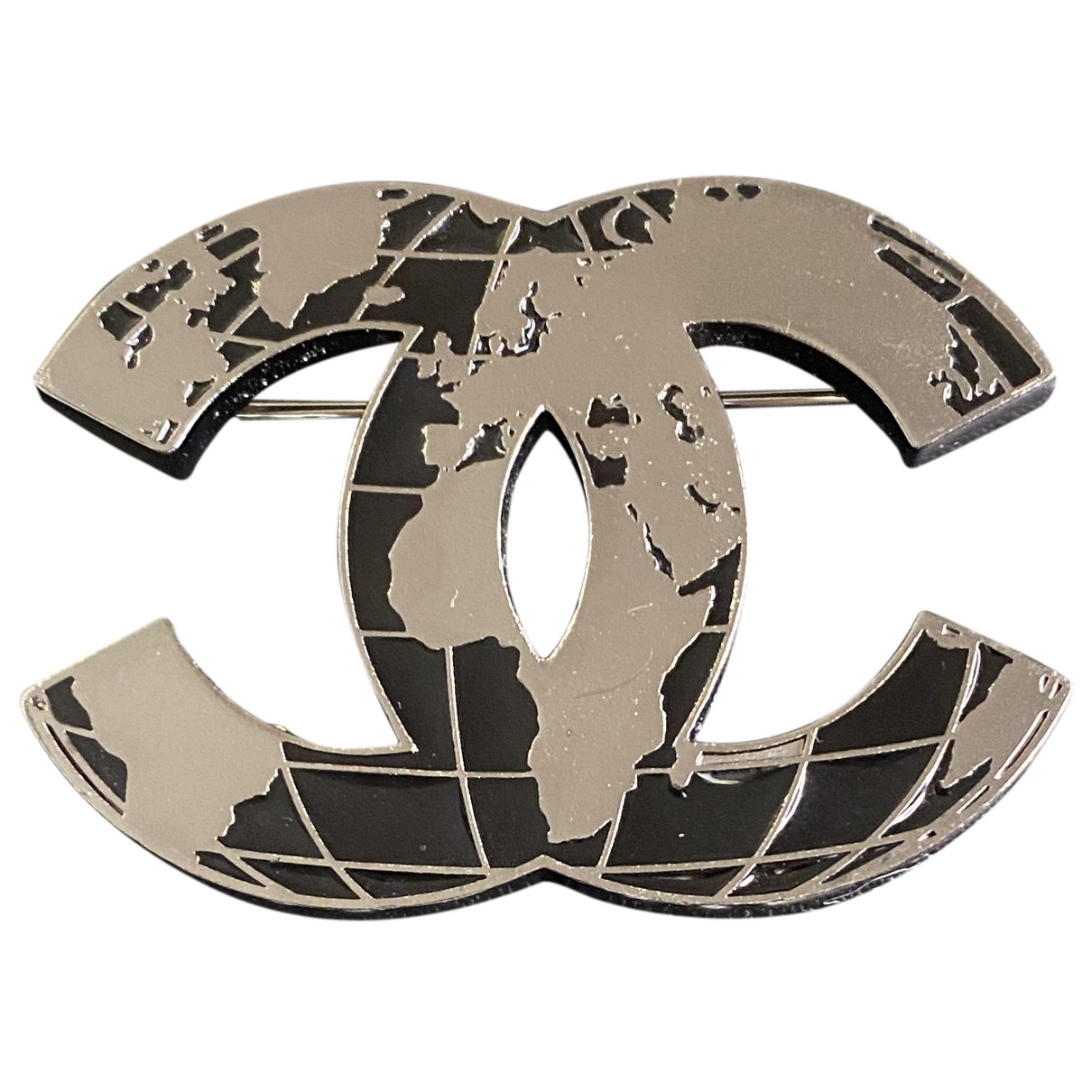 Chanel CC Brosche in Metall