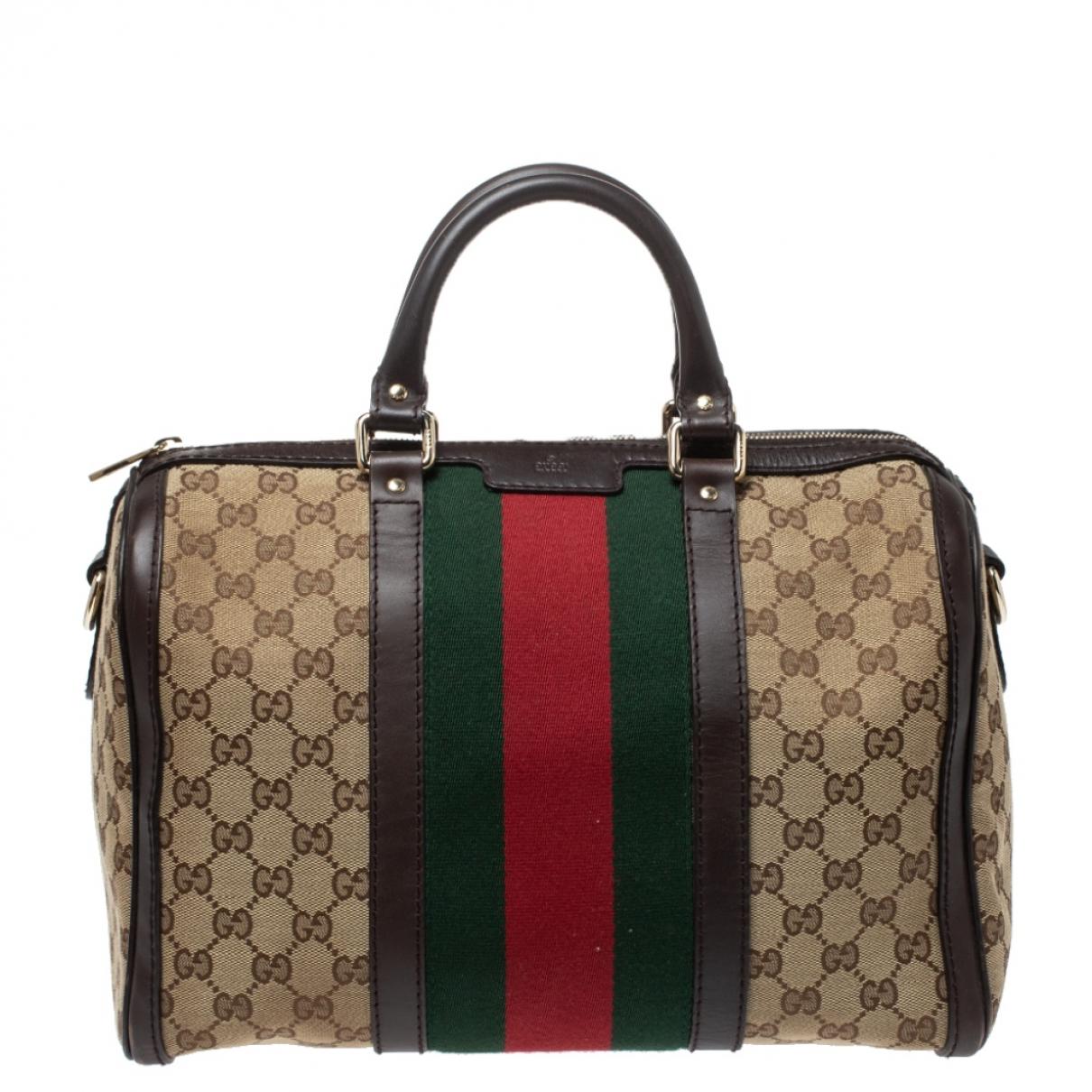 Gucci \N Reisetasche in  Beige Leder
