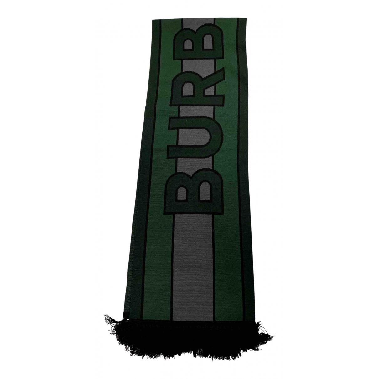 Burberry - Cheches.Echarpes   pour homme en laine - vert
