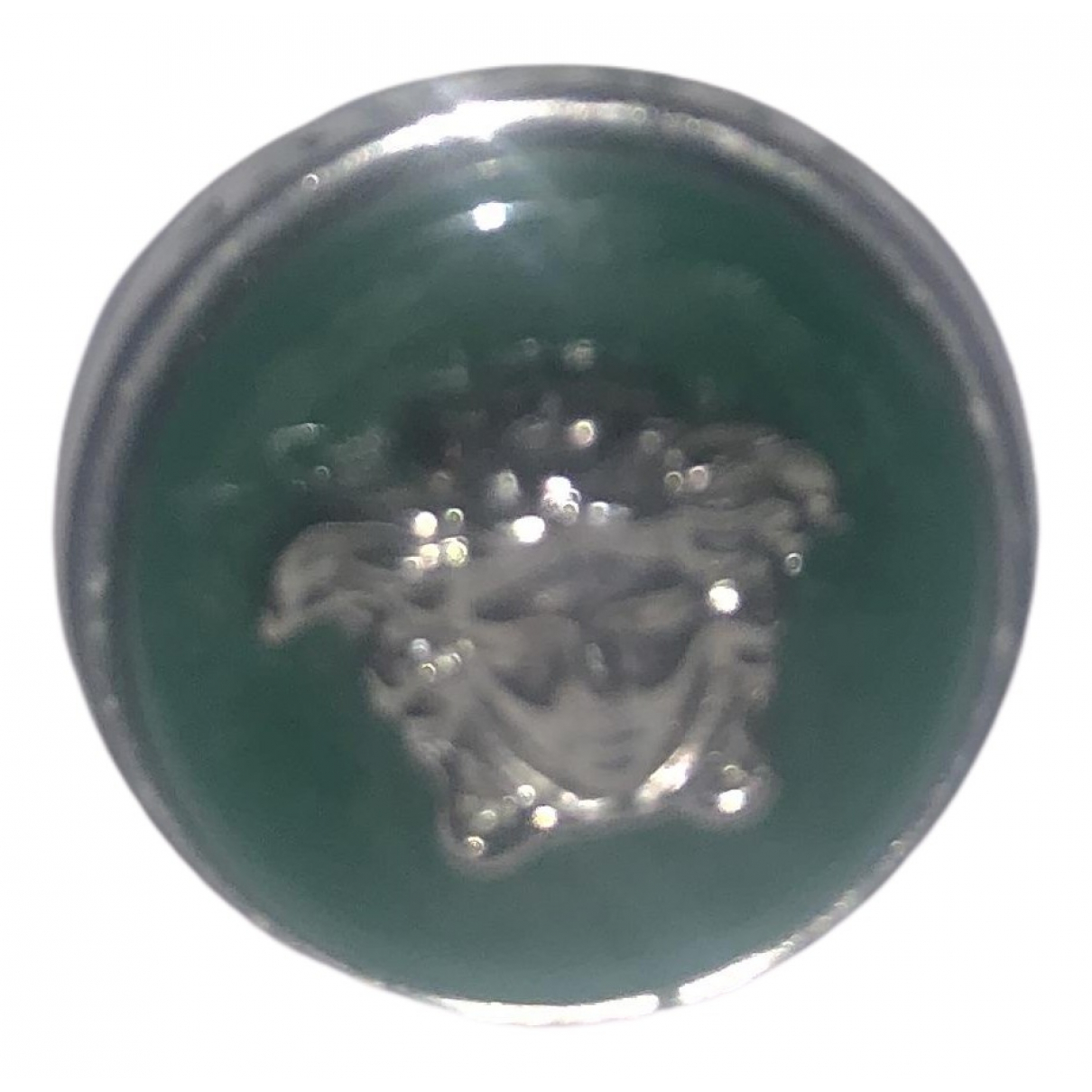 Versace Medusa Ring in  Gruen Metall