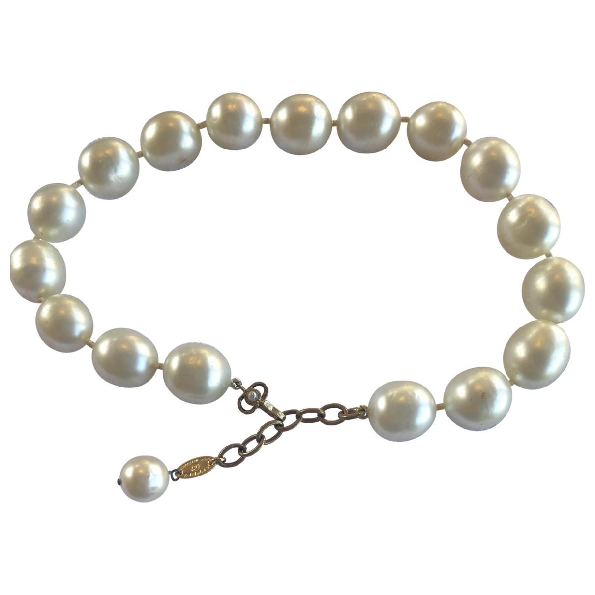 Chanel CHANEL Kette in  Weiss Perlen