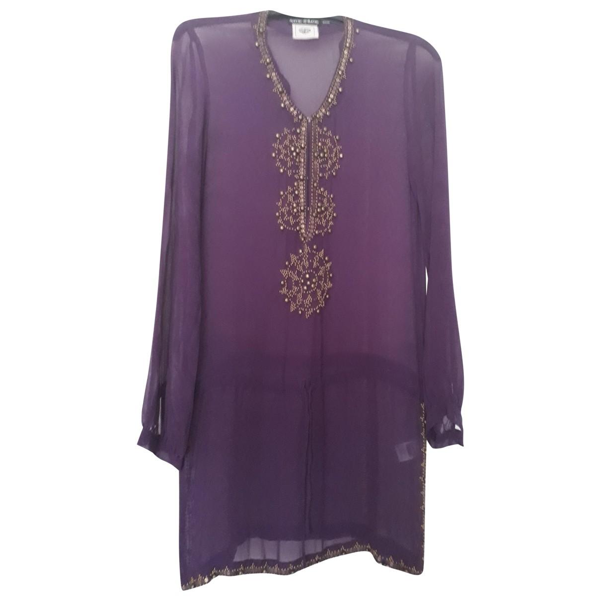 Antik Batik \N Purple Silk  top for Women XS International
