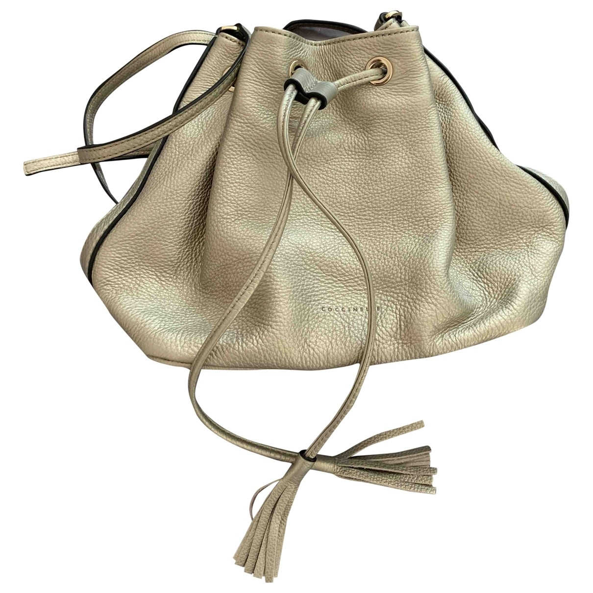Coccinelle \N Handtasche in  Metallic Leder
