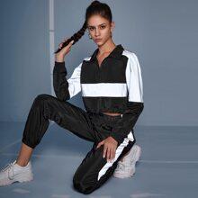 Reflective Panel Half Zip Anorak Jacket & Sweatpants