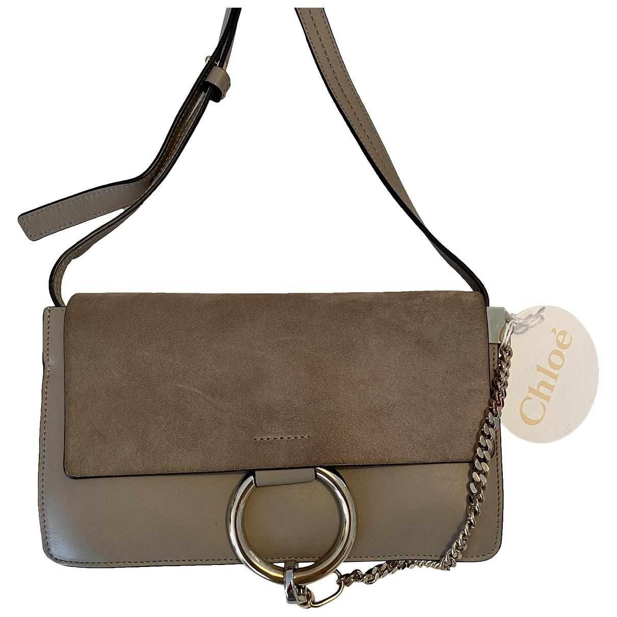Chloé Faye Beige Leather handbag for Women \N