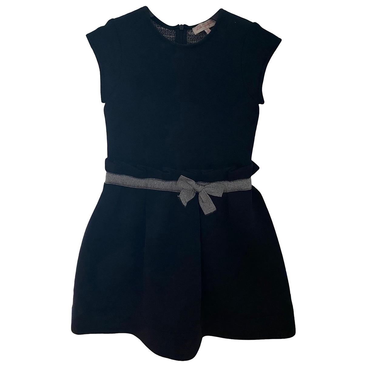 Lili Gaufrette - Robe    pour enfant en coton - noir