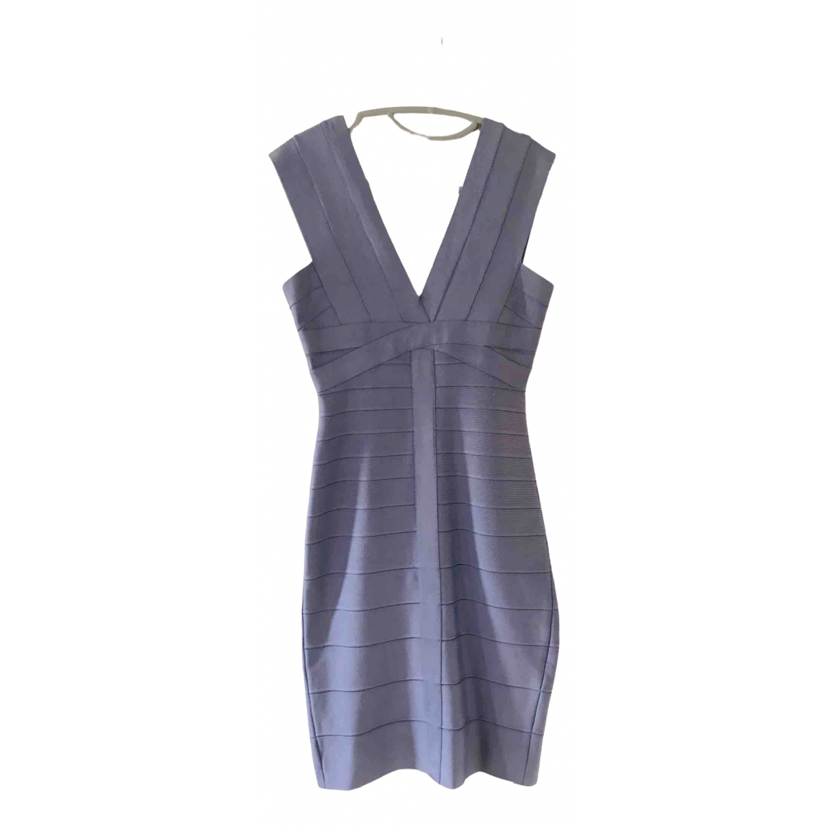 Herve Leger \N Purple Cotton - elasthane dress for Women M International
