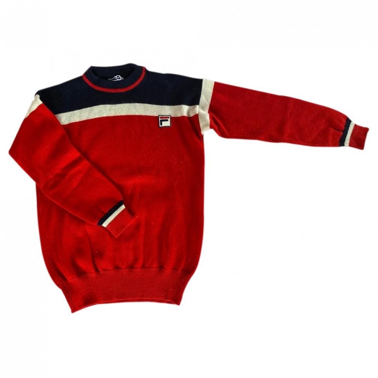 Fila \N Pullover.Westen.Sweatshirts  in  Rot Wolle