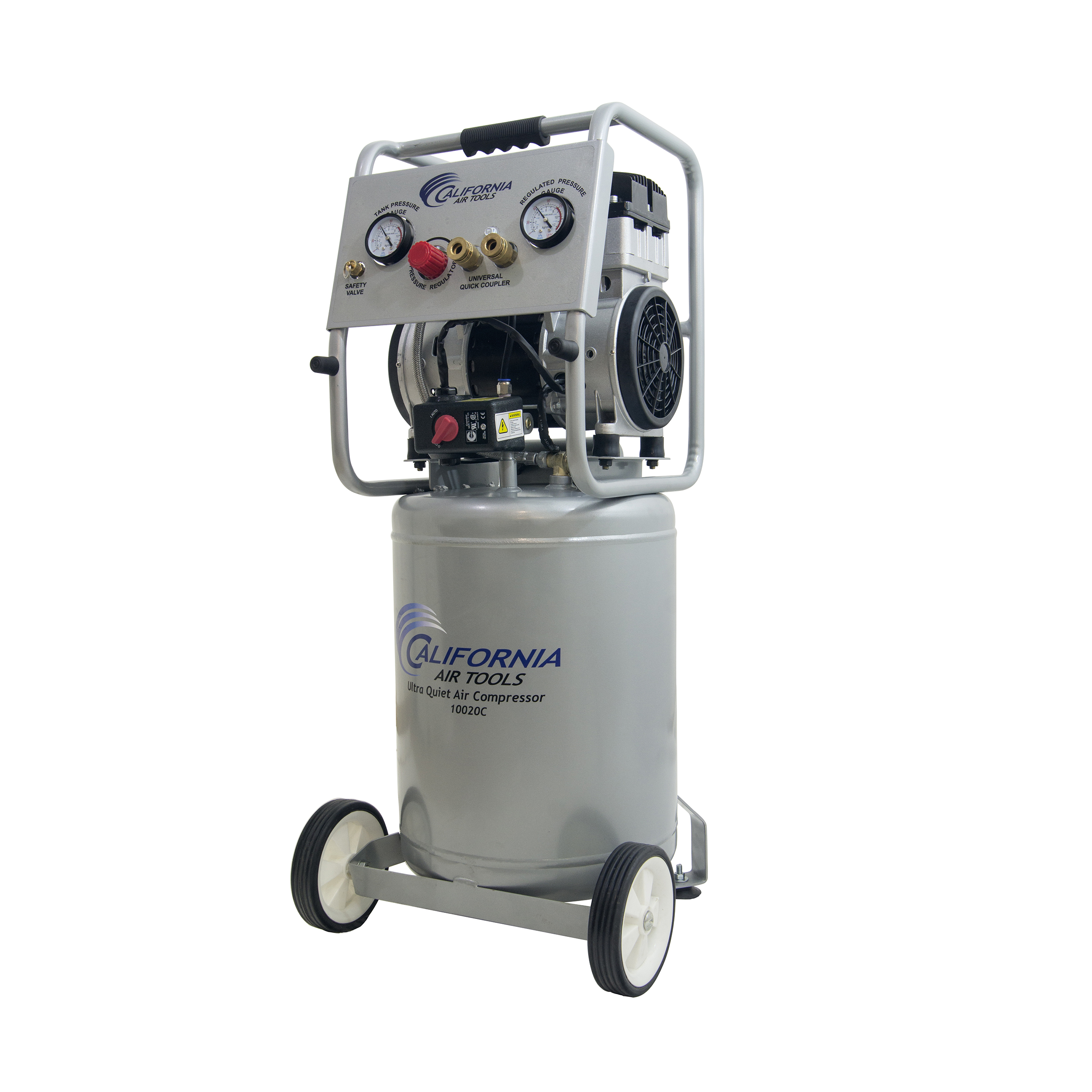 10020CAD-22060 Ultra Quiet Oil-Free Air Compressor, 2 HP, 10 Gal., 220V with Auto Drain Valve