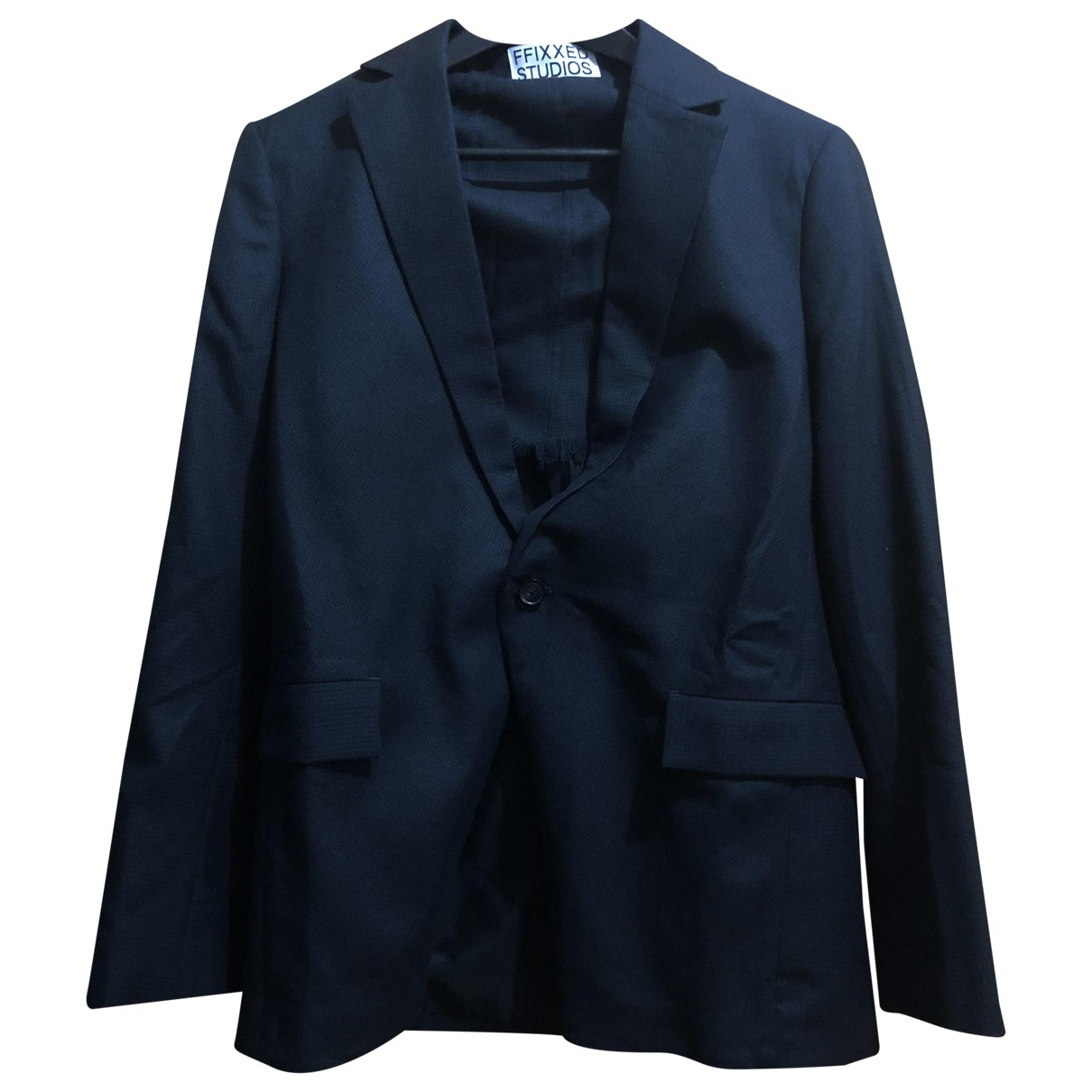 Non Signe / Unsigned \N Jacke in  Blau Wolle