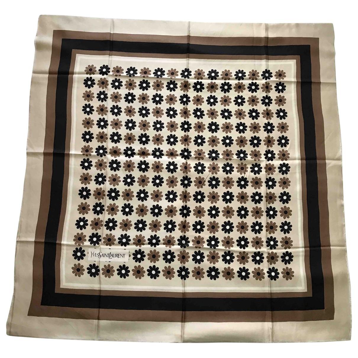 Yves Saint Laurent \N Beige Silk Silk handkerchief for Women \N