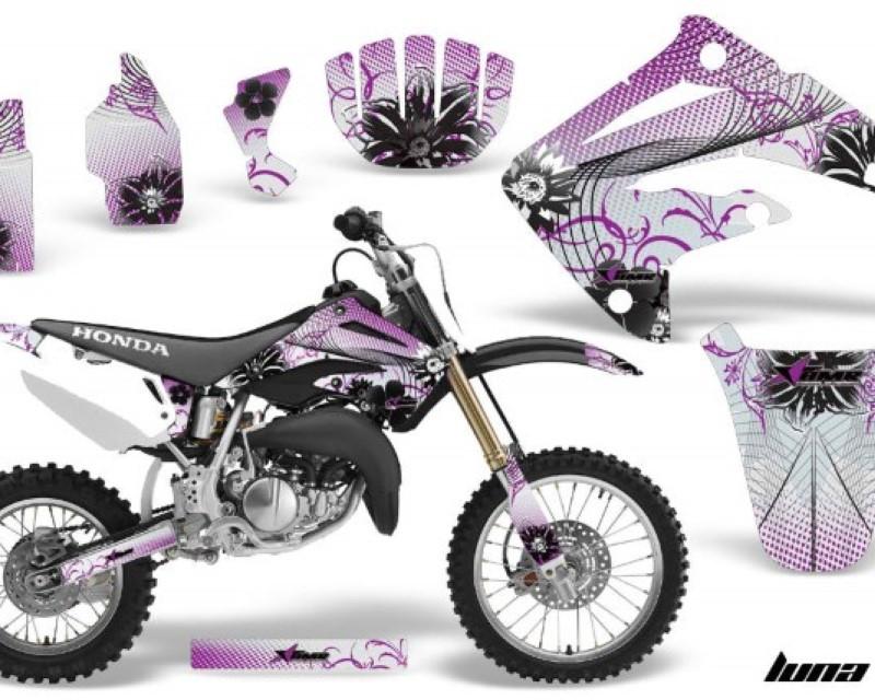 AMR Racing Dirt Bike Graphics Kit MX Decal Wrap For Honda CR85 CR 85 2003-2007 LUNA PURPLE