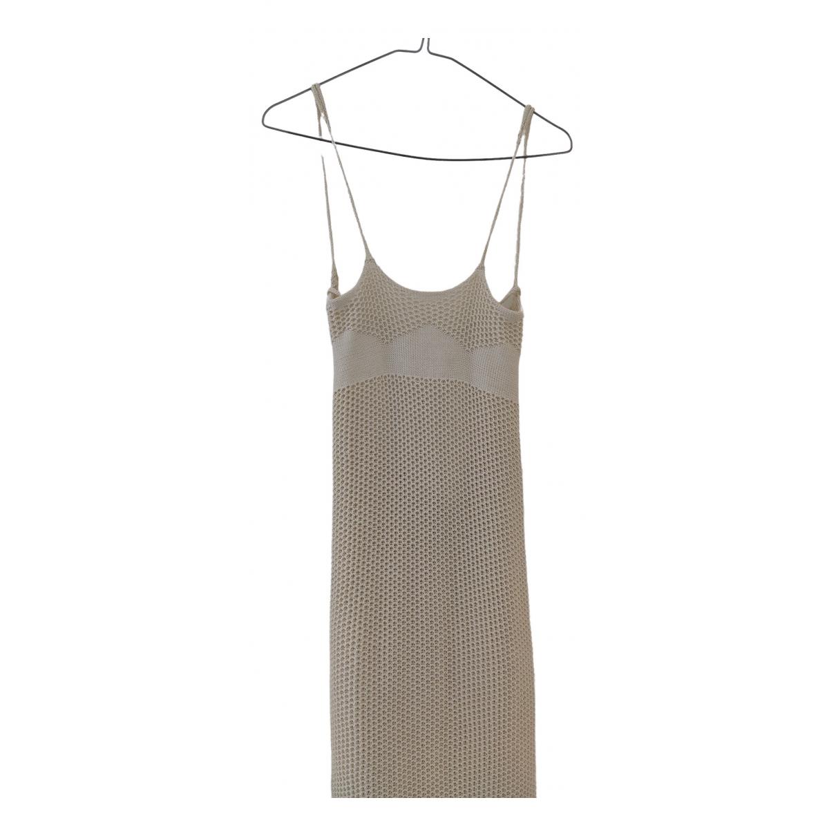 Peet Dullaert \N Kleid in  Ecru Baumwolle