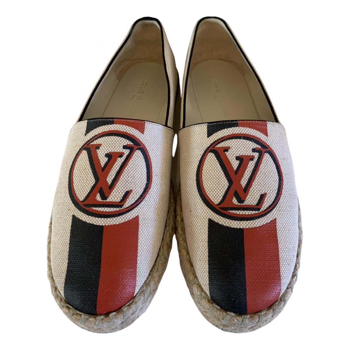 Louis Vuitton \N Espadrilles in  Beige Leinen