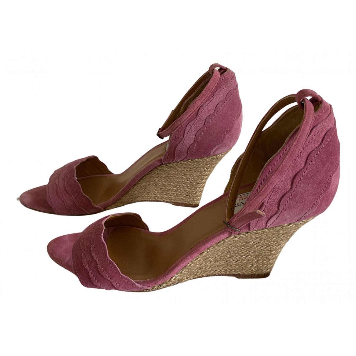 Lanvin - Sandales   pour femme en suede - rose