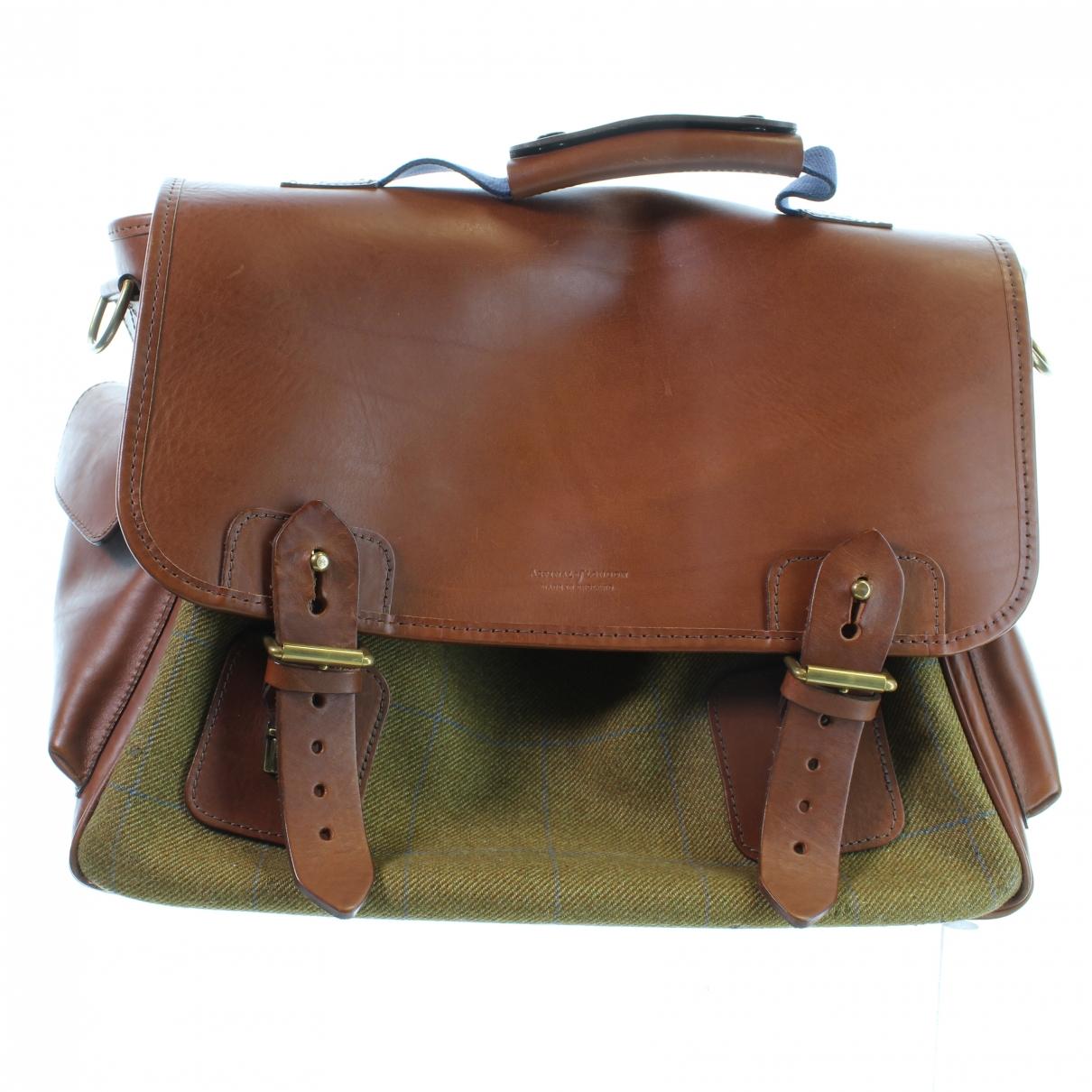 Aspinal Of London \N Brown Leather bag for Men \N