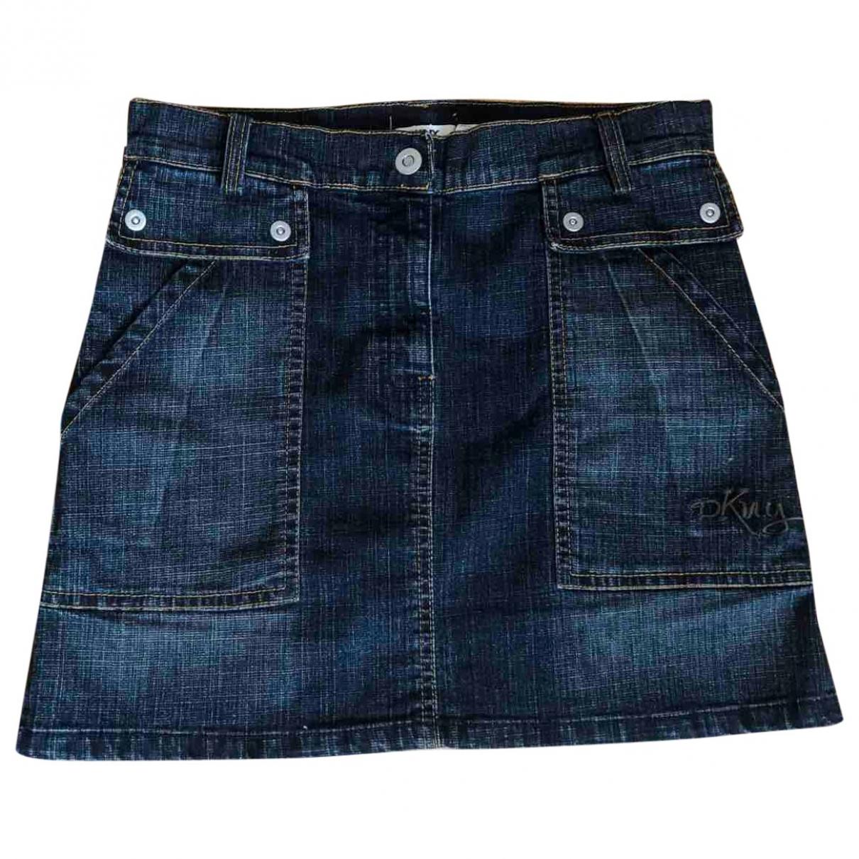 Dkny - Jupe   pour enfant en coton - bleu