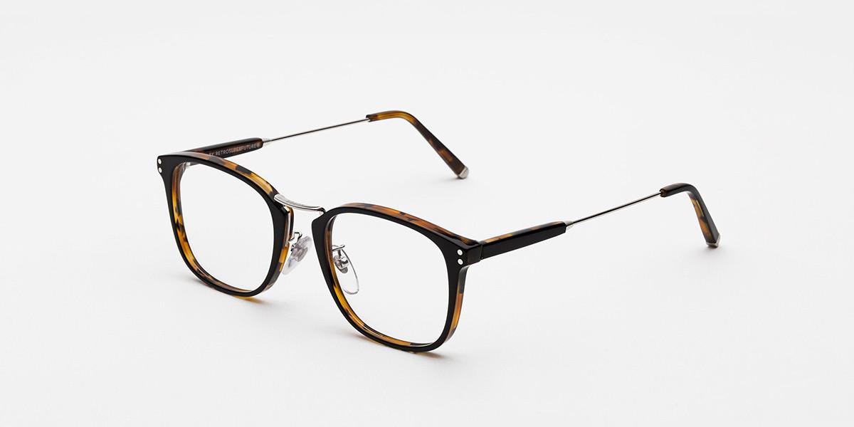 Retrosuperfuture Numero 44 Nero/Havana ASIAN FIT IIN6 L76 Men's Glasses Tortoise Size 53 - Free Lenses - HSA/FSA Insurance - Blue Light Block