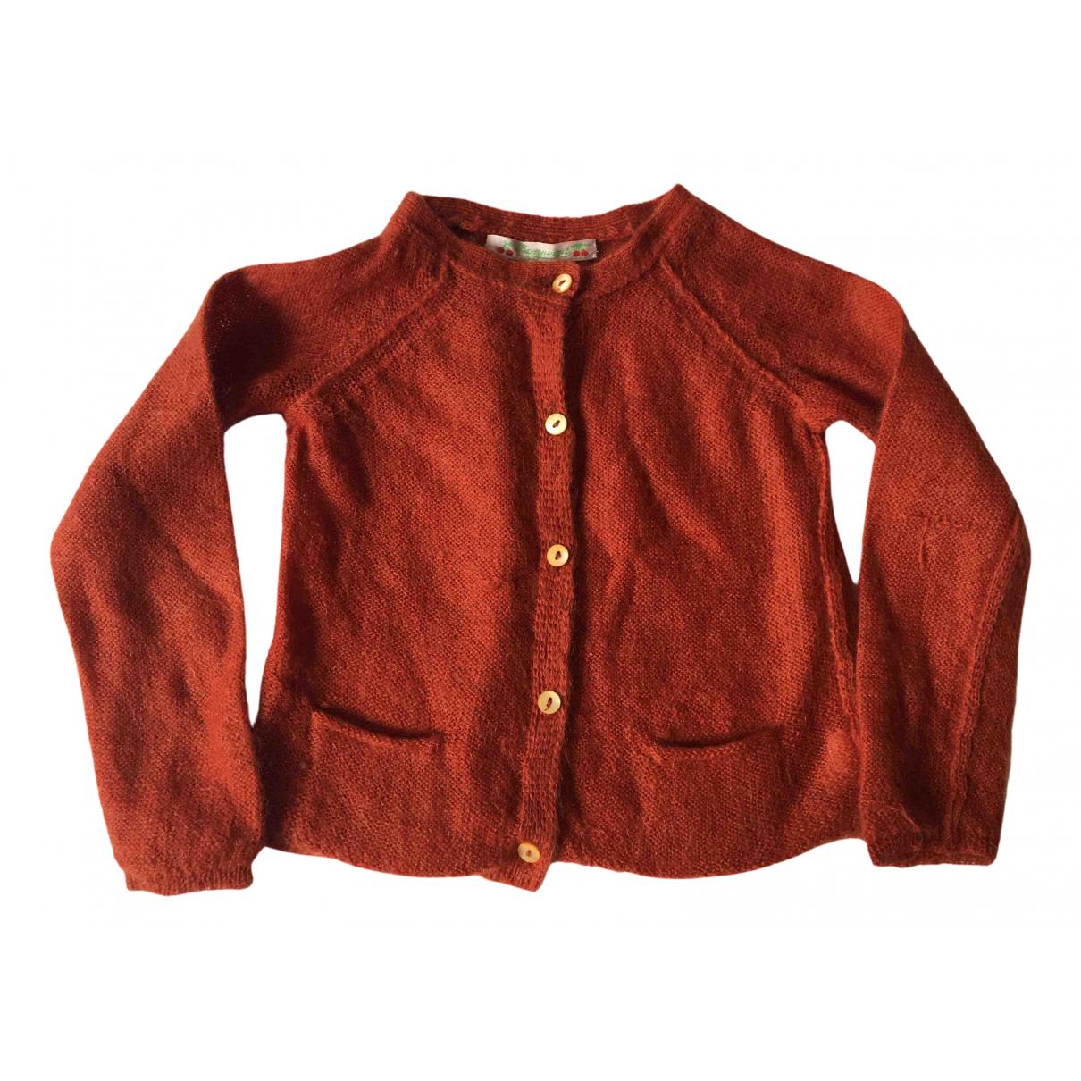 Bonpoint - Pull   pour enfant en laine - rouge