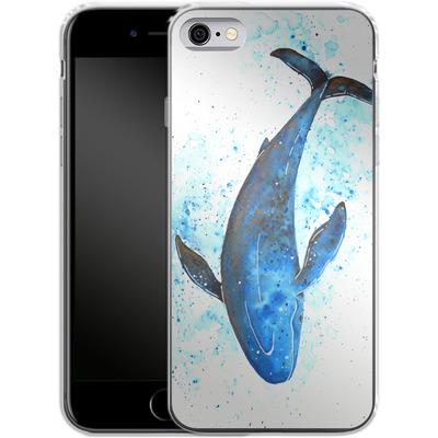Apple iPhone 6 Silikon Handyhuelle - Whale Dive von Becky Starsmore