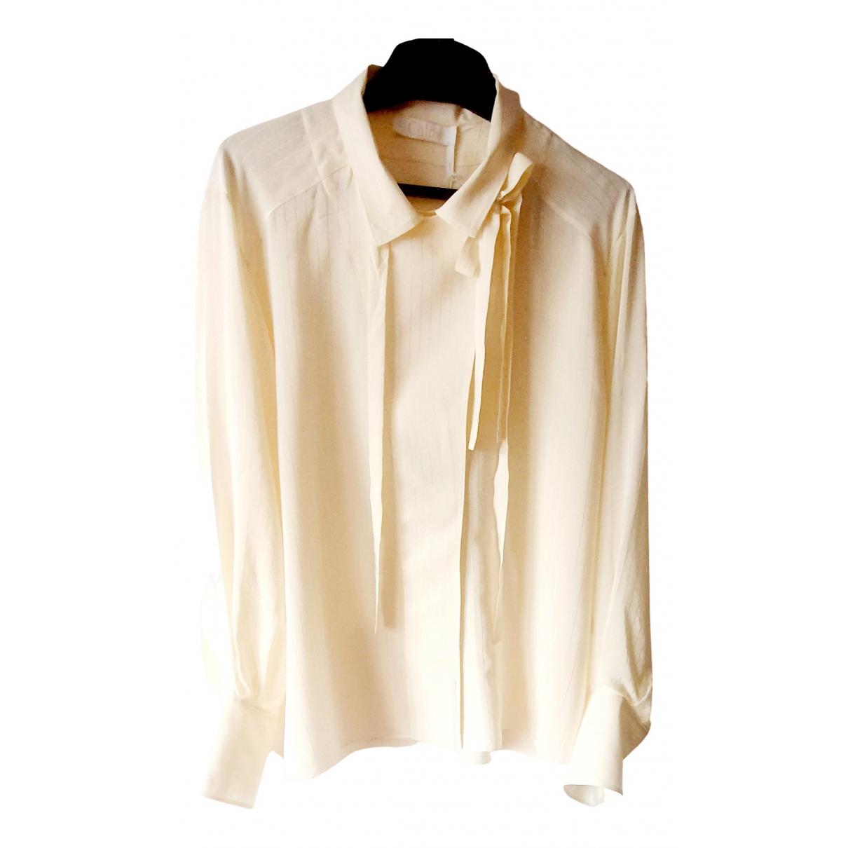 Chloé \N Beige Silk  top for Women 42 FR