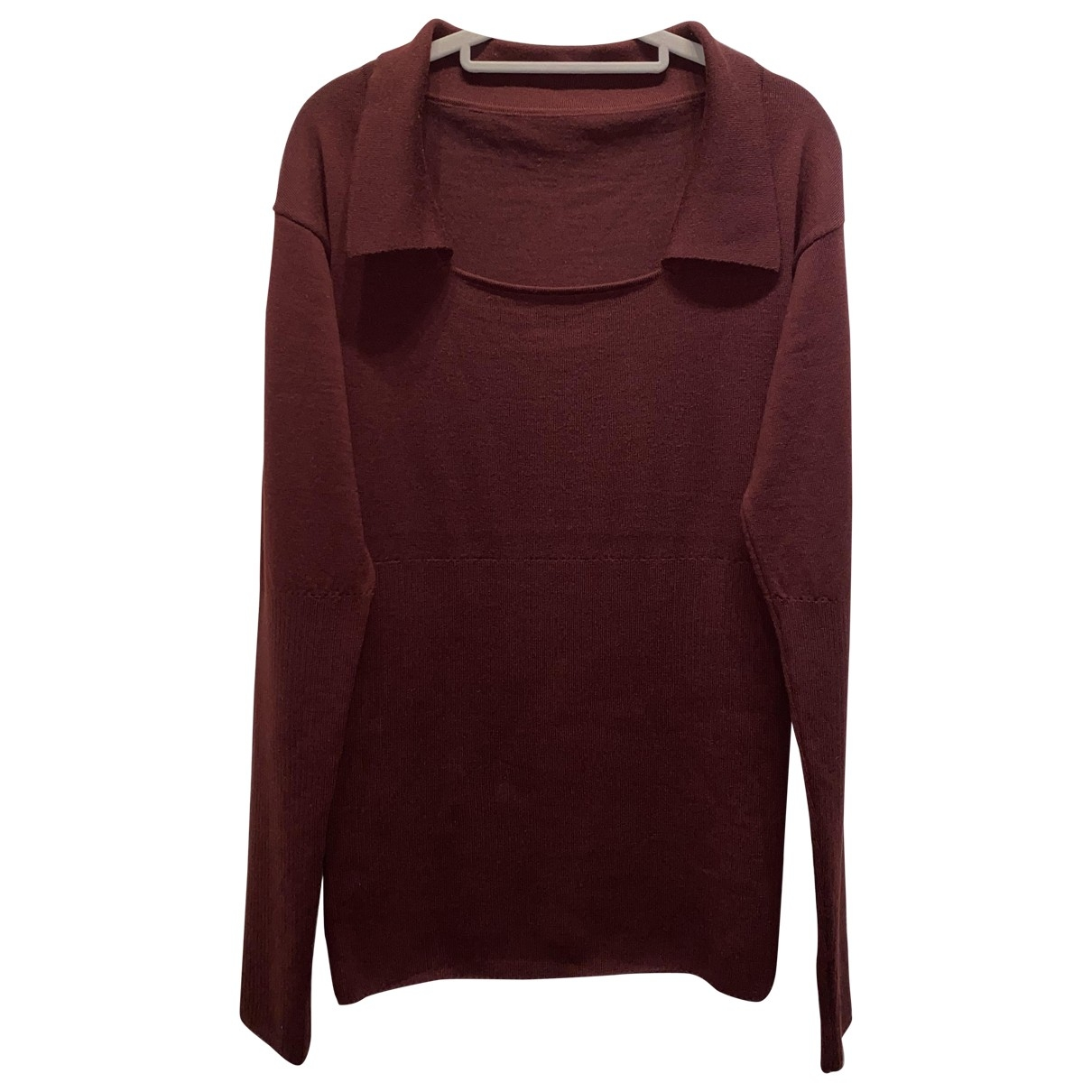 Jacquemus \N Pullover in  Bordeauxrot Wolle