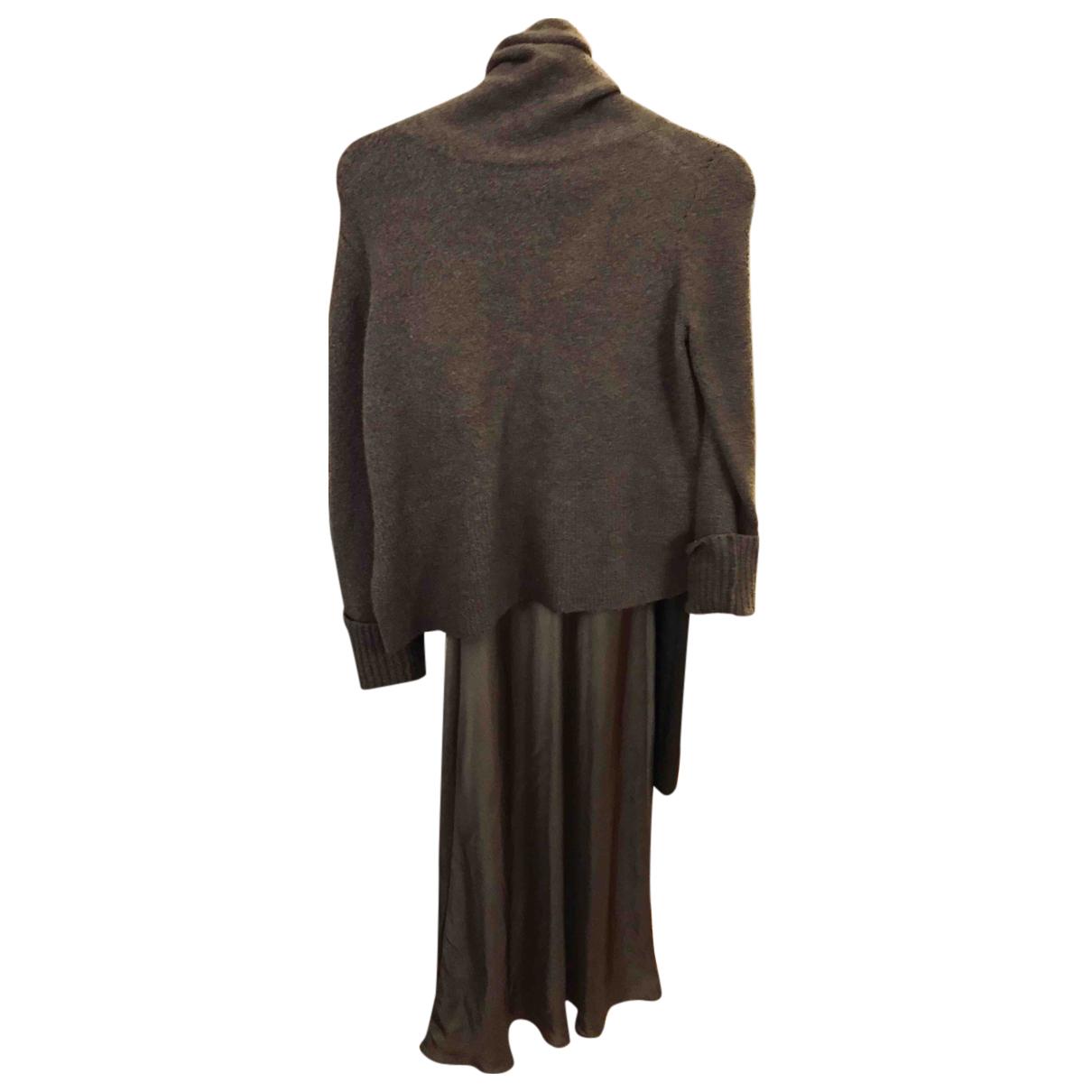 All Saints - Robe   pour femme en soie - kaki