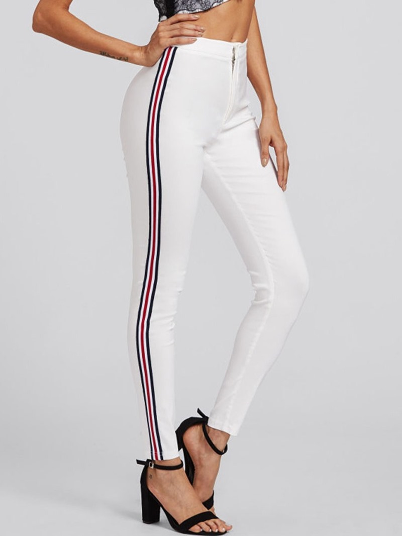 Ericdress Skinny Stripe Full Length Pencil Pants Casual Pants