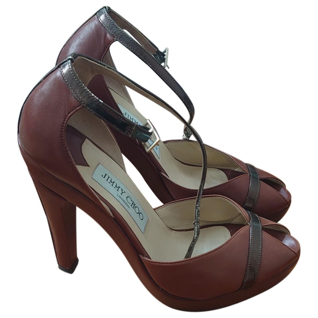 Jimmy Choo - Sandales   pour femme en cuir - marron
