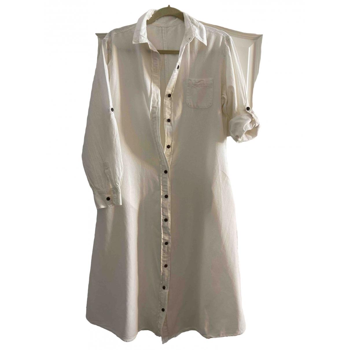 - Robe   pour femme en lin - beige