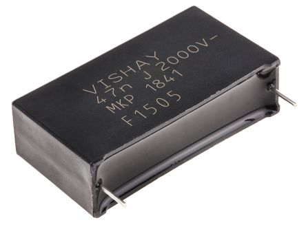Vishay 47nF Polypropylene Capacitor PP 2 kV dc, 700 V ac ±5% Tolerance Through Hole MKP1841 Series (10)