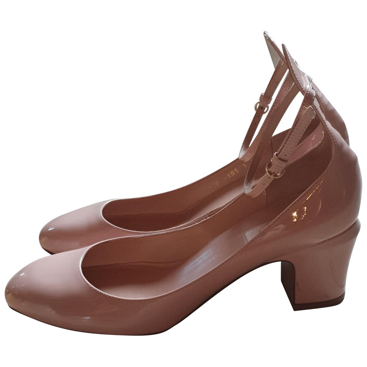 Valentino Garavani Tango Pink Patent leather Heels for Women 41 IT