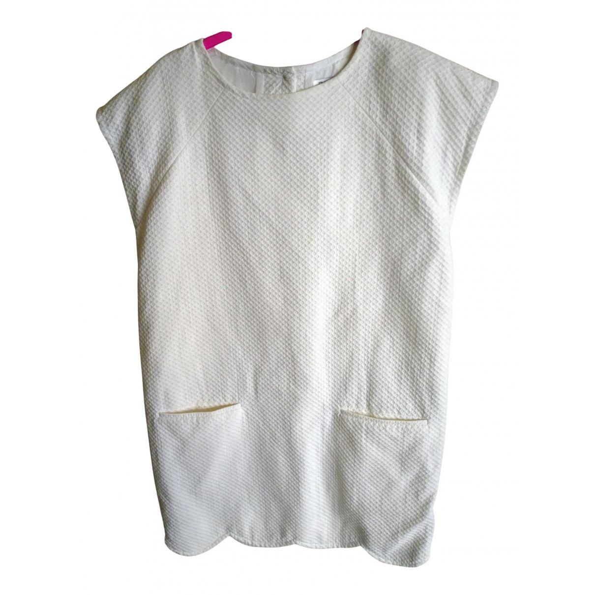 Balenciaga \N Kleid in  Weiss Baumwolle