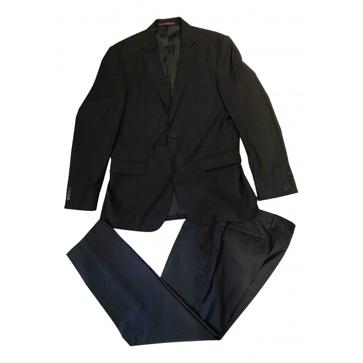 Louis Feraud - Costumes   pour homme en laine - marine