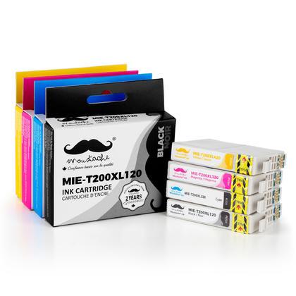 Compatible Epson T200XL Ink Cartridges Combo High Yield BK/C/M/Y - Moustache@ - ink+photo paper 4