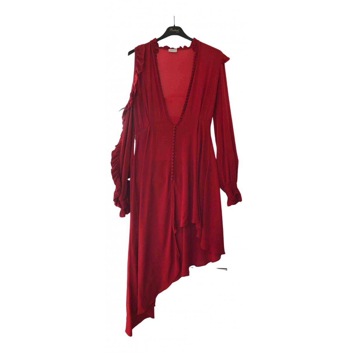 Magda Butrym N Red Silk dress for Women 36 FR