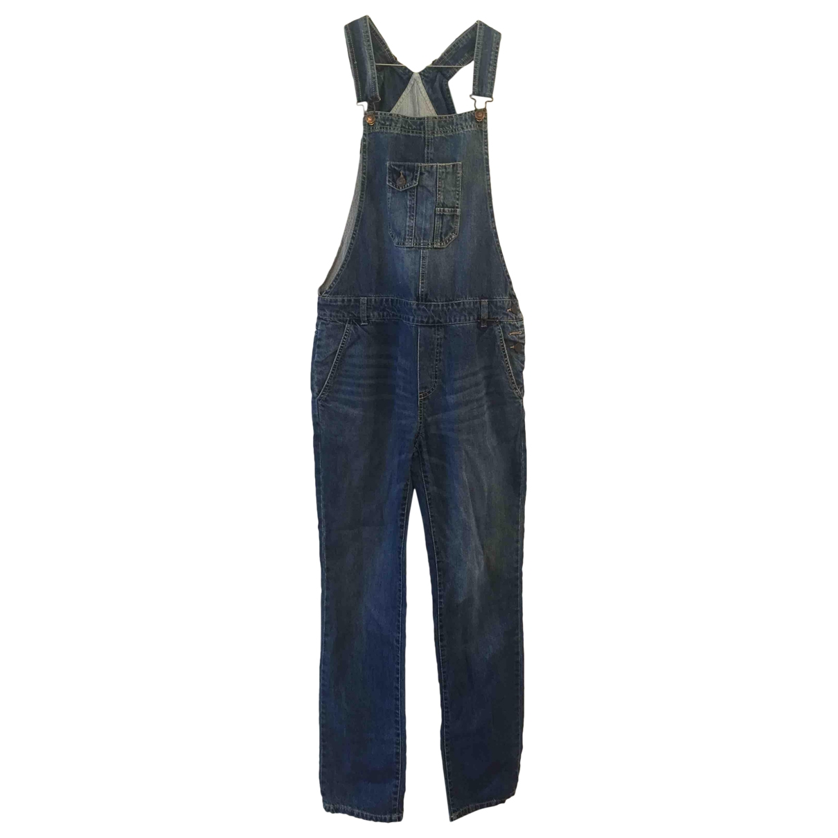 Non Signé / Unsigned \N Blue Cotton Jeans for Women 40 FR