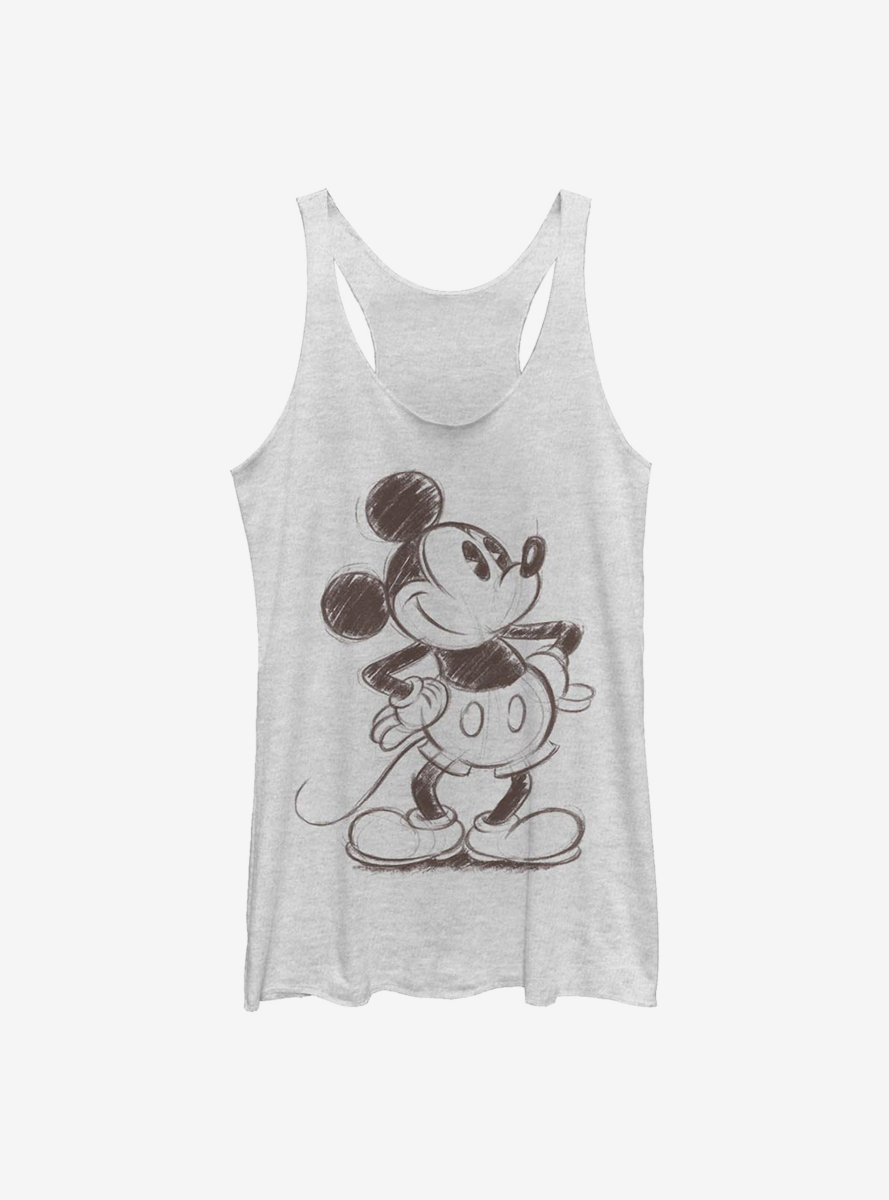 Disney Mickey Mouse Sketchy Mickey Womens Tank Top