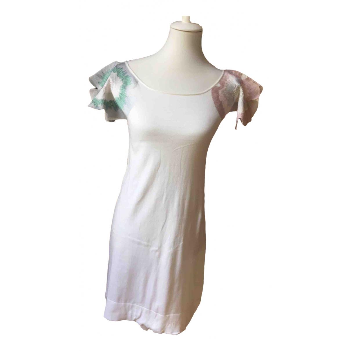 Emporio Armani - Robe   pour femme en coton - blanc