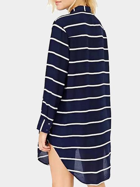 Yoins Stripe Shirt Dress