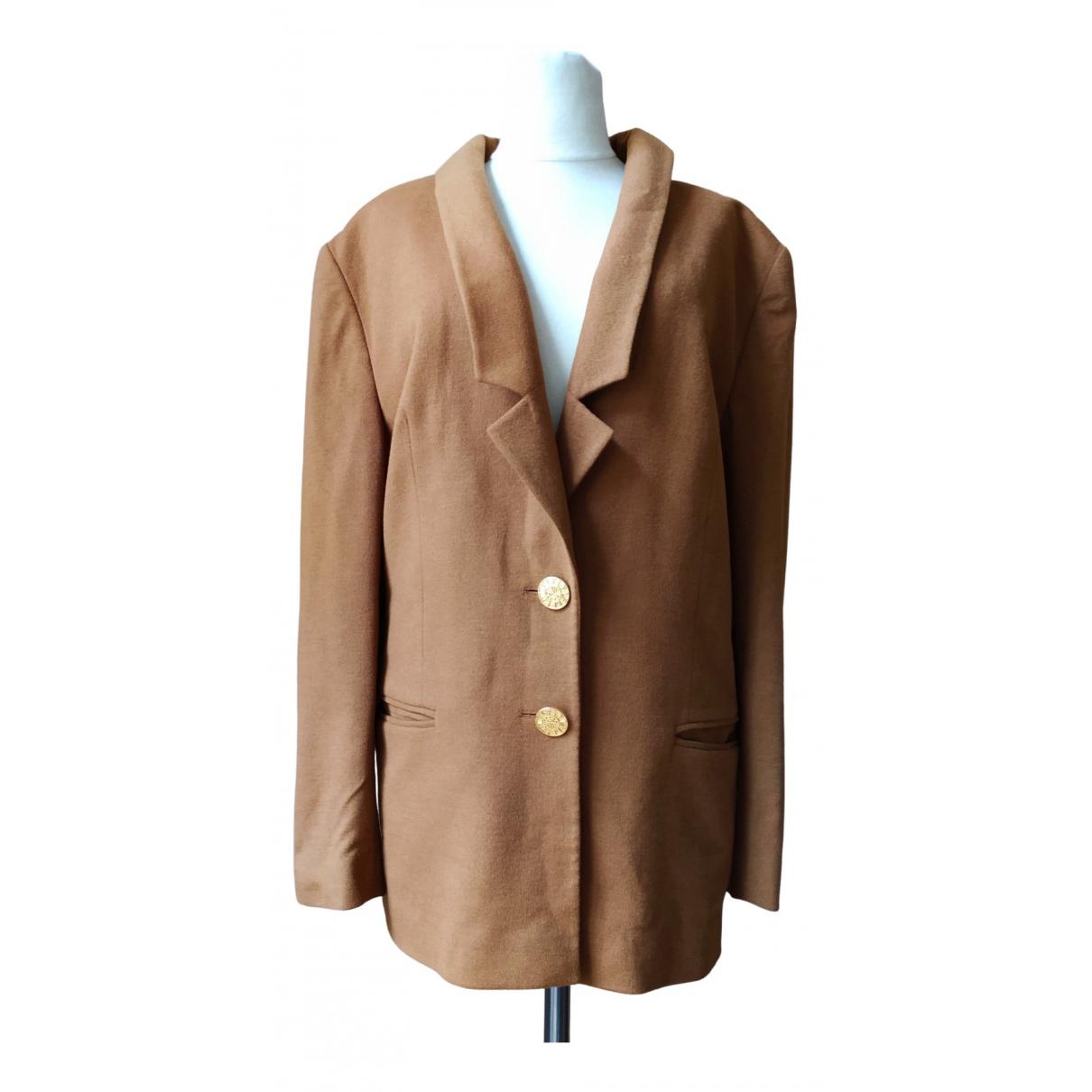 Louis Feraud \N Brown Wool jacket for Women 46 FR