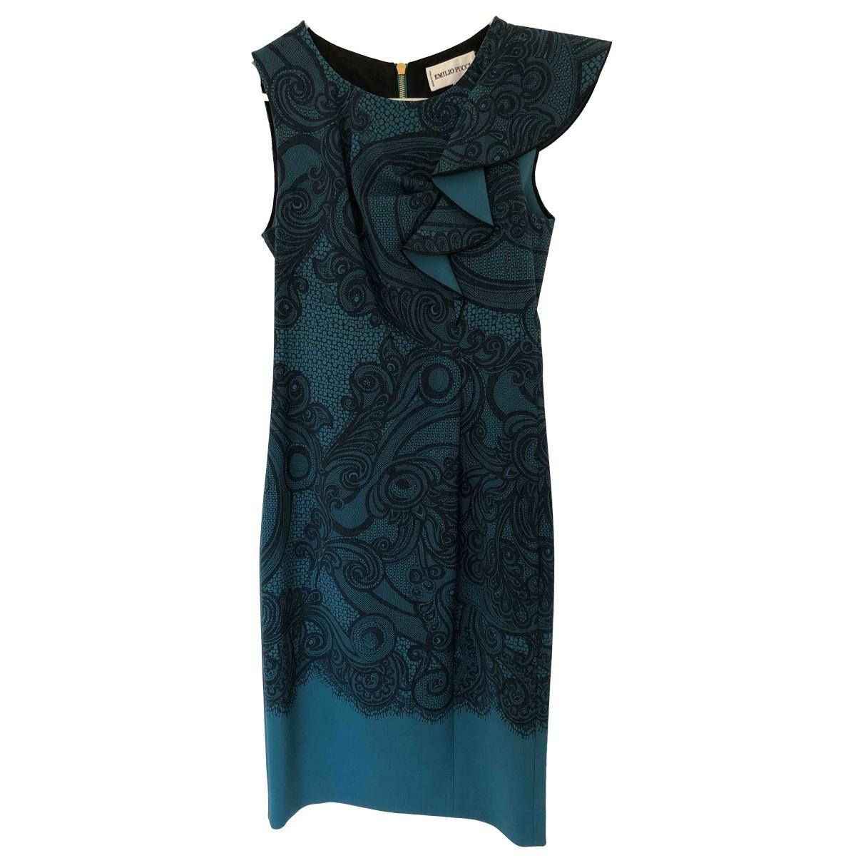 Emilio Pucci \N Kleid in  Blau Wolle