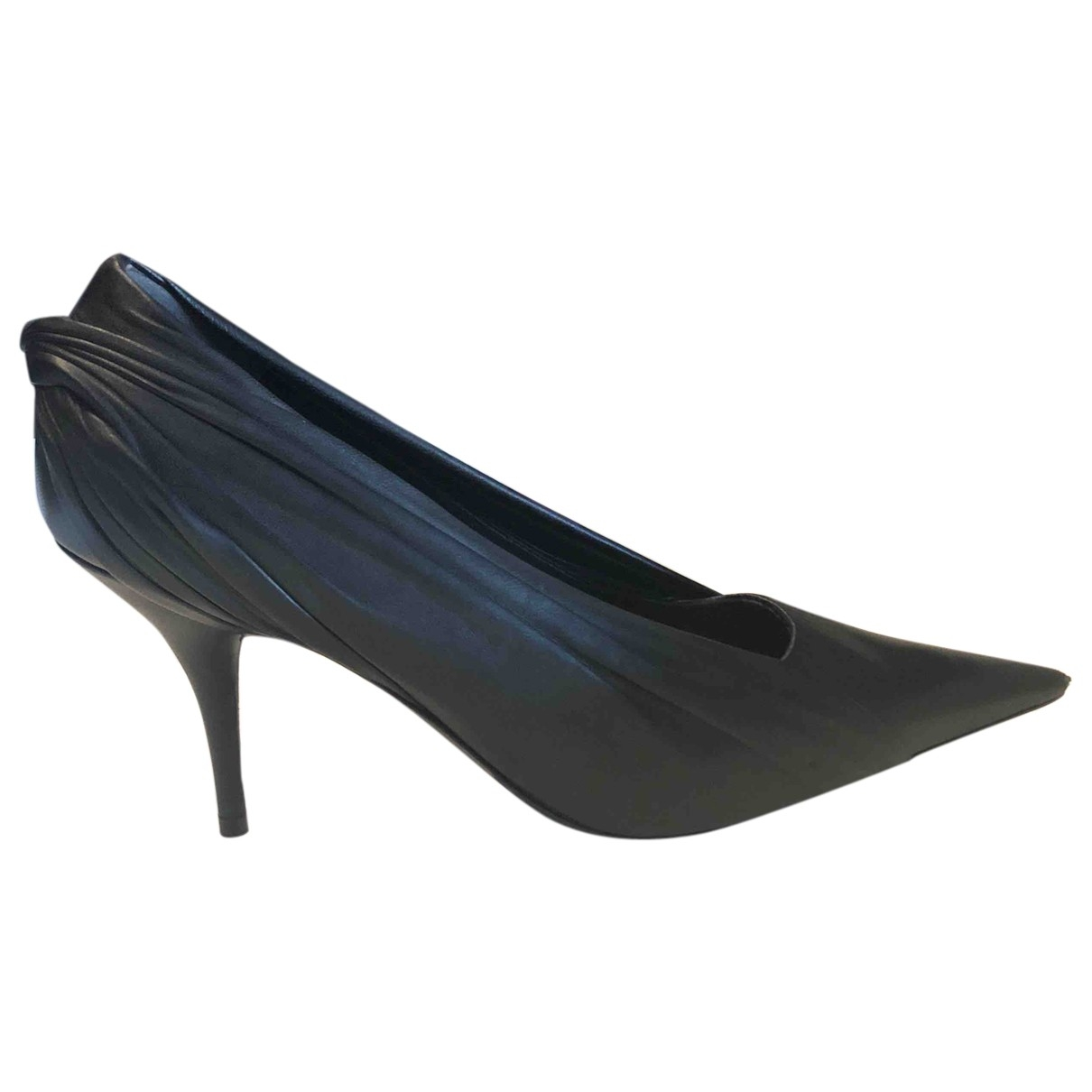 Balenciaga \N Black Leather Heels for Women 38 EU