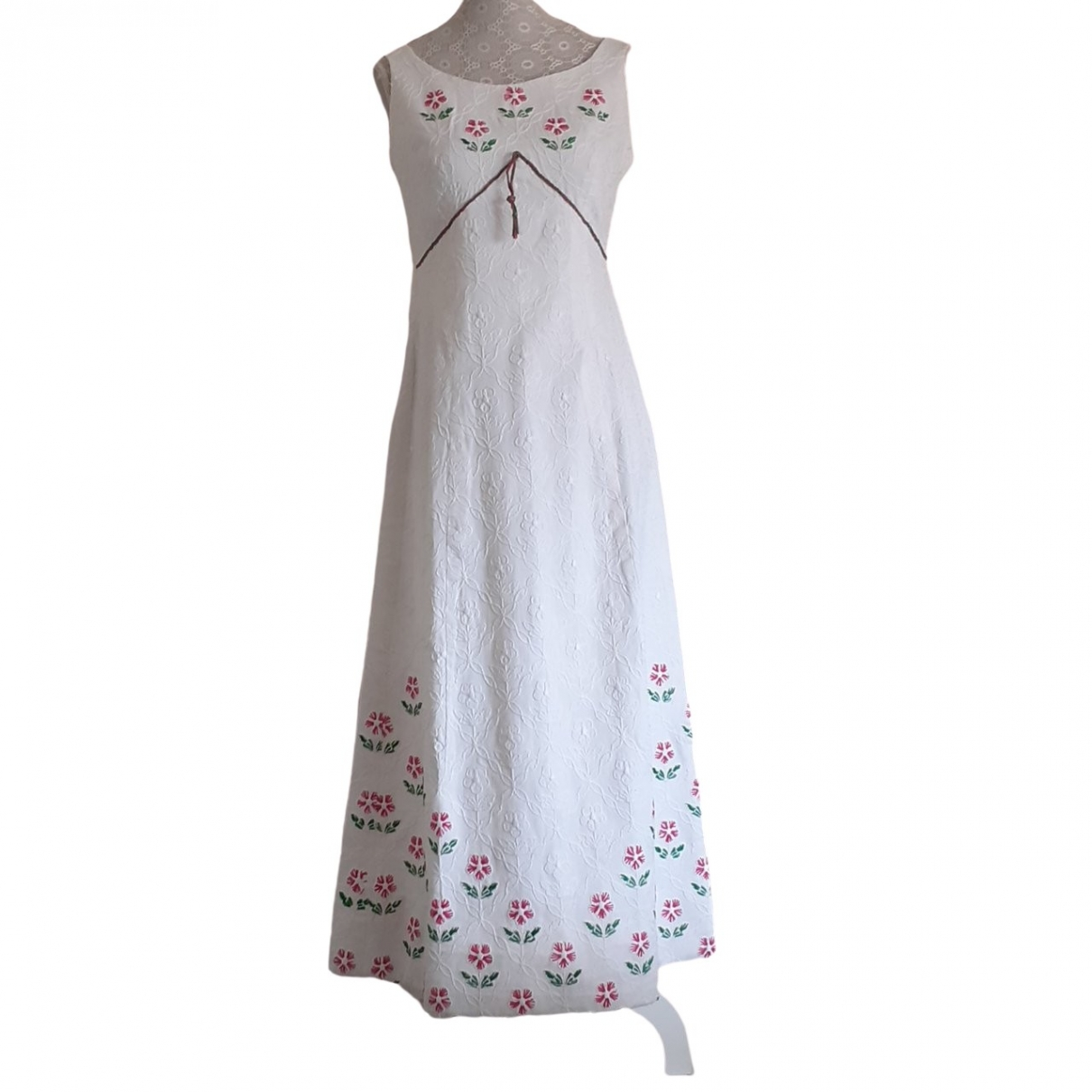 Non Signé / Unsigned \N White Cotton dress for Women 38 IT