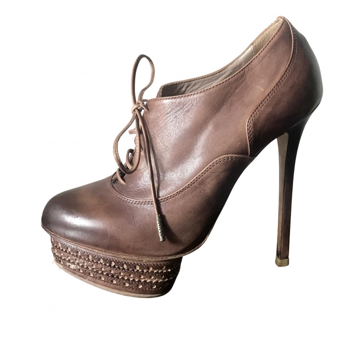 Le Silla - Boots   pour femme en cuir - marron