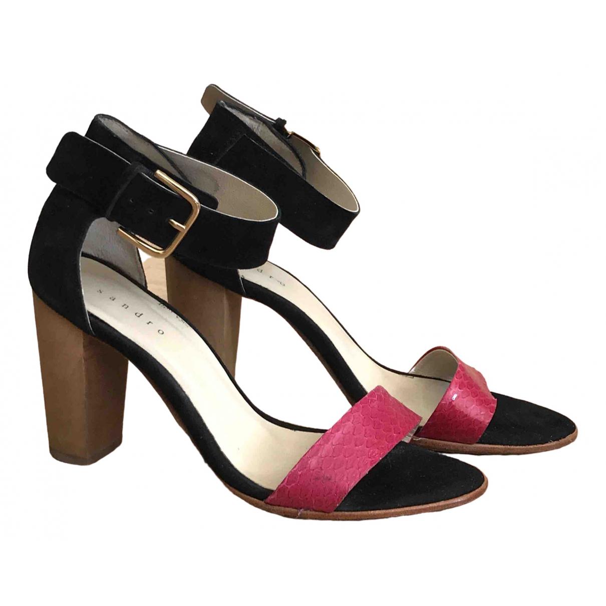Sandro \N Pink Suede Heels for Women 37 EU
